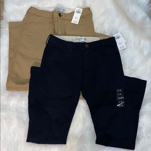 Bundle!!!Abercrombie kids boys skinny chino pants